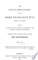The Light Of Christ Exalted Or The More Excellent Way Briefly Set Forth Being An Apology For Leaving The Methodists And Joining The Society Of Friends By J S I E Joseph Sutton  Book PDF