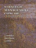 Strategic Management Concise Book PDF