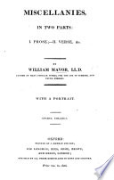 Miscellanies In Two Parts Prose Ii Verse C Book PDF