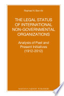 The Legal Status of International Non Governmental Organizations