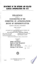 Hearings  Reports and Prints of the House Committee on Appropriations Book PDF