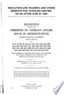 Education and Training and Other Benefits for Veterans Serving on Or After June 27  1950 Book