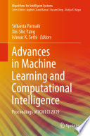Advances In Machine Learning And Computational Intelligence Book PDF