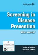 Screening in Disease Prevention