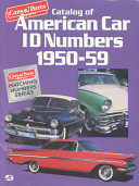 Catalog of American Car I  D  Numbers  1950 59