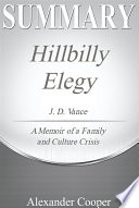 Summary of Hillbilly Elegy Book PDF