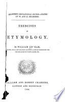 Exercises on Etymology