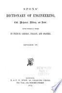 Spons  Dictionary of Engineering  Civil  Mechanical  Military  and Naval Book