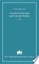 Von den Verbrechen und von den Strafen  : (1764)