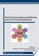 Multi Functional Nanoscale Materials and their Potential Applications Book