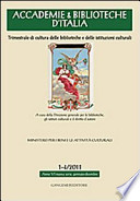 Accademie & biblioteche d'Italia (2011)