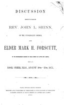 Pdf Discussion Between ... John L. Shinn, of the Universalist Church and ... Mark H. Forscutt, of the Reorganized Church of Jesus Christ of Latter-Day Saints, Held at Rock Creek, Ills., August 10th-13th, 1875