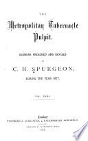 Sermons Of The Rev C H Spurgeon Of London
