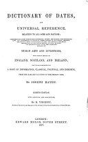 Dictionary of dates, and universal reference