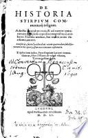 De historia stirpium commentarii insignes