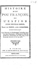 Histoire d'un pou François; ou L'espion d'une nouvelle espece, tant en France, qu'en Angleterre