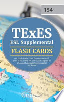 TExES ESL Supplemental 154 Flash Cards