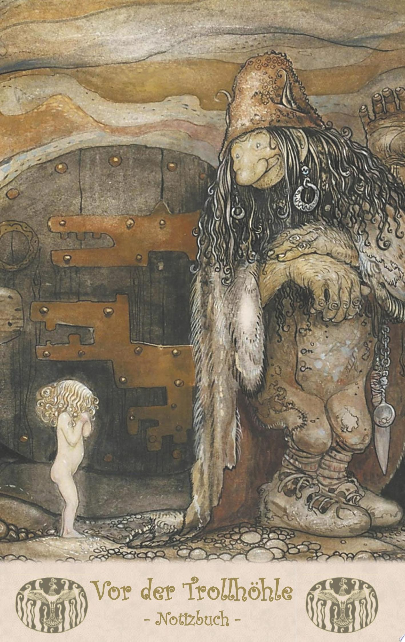Vor der Trollh  hle   Notizbuch  Trolle und Goblins