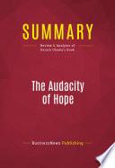 Summary  The Audacity Of Hope