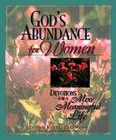 God s Abundance for Women Book PDF