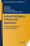 Ambient Intelligence   Software and Applications