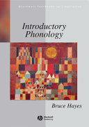 Pdf Introductory Phonology