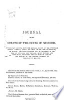 Journal of the Senate of the State of Missouri at the     Session of the     General Assembly