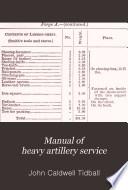 Manual of Heavy Artillery Service Book PDF