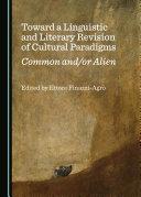 Toward a Linguistic and Literary Revision of Cultural Paradigms Pdf/ePub eBook