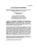 Euler Equation Errors