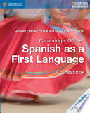 Books - Cambridge Igcse� Spanish As A First Language Coursebook | ISBN 9781316632918
