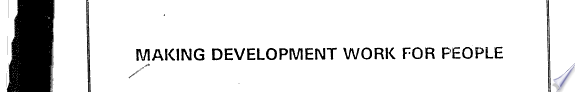 Making Development Work for People