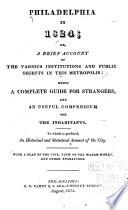 Philadelphia in 1824 Book