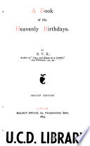 A book of the heavenly birthdays