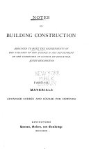 Pdf Rivington's Series of Notes on Building Construction ...