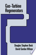 Gas Turbine Regenerators Book PDF