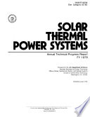 Solar Thermal Power Systems