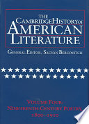 The Cambridge History Of American Literature Volume 4 Nineteenth Century Poetry 1800 1910 Book PDF
