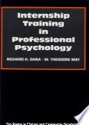 Internship Training in Professional Psychology Book