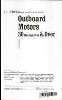 Chilton's Repair and Tune-up Guide: Outboard Motors, 30 Horsepower & Over