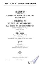 1975 NASA Authorization, Hearings Before....