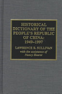 Historical Dictionary of the People s Republic of China  1949 1997