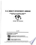 U S  Direct Investment Abroad Book