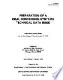 Preparation of a coal conversion systems technical data book