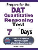 Prepare for the DAT Quantitative Reasoning Test in 7 Days