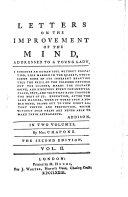 Letters on the Improvements of the Mind     The second edition