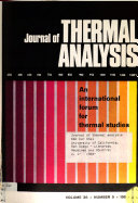 Journal of Thermal Analysis Book