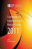 Contemporary Ergonomics and Human Factors 2011