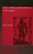 Pdf Tsumi - Offence and Retribution in Early Japan Telecharger
