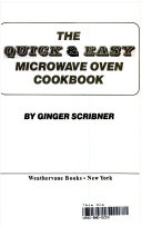 The Quick   Easy Microwave Oven Cookbook
